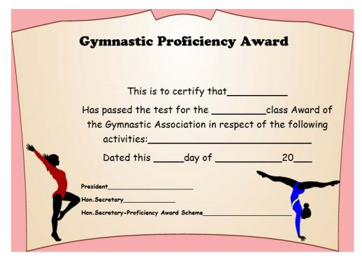 Gymnastics Certificate Archives Page 2 Of 2 Template Sumo