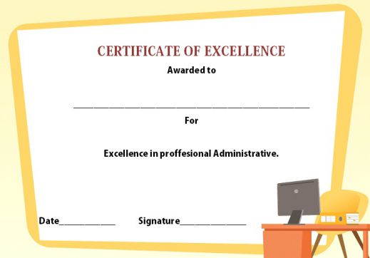 certificate of excellence 21 professional templates for your