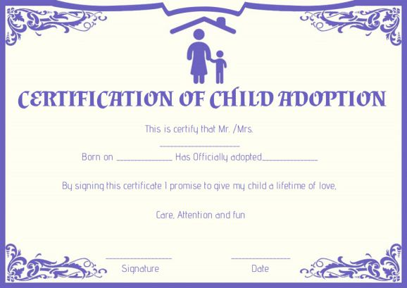 graphic about Printable Adoption Certificate identify Little one Adoption Certificates: 10 Totally free Printable and