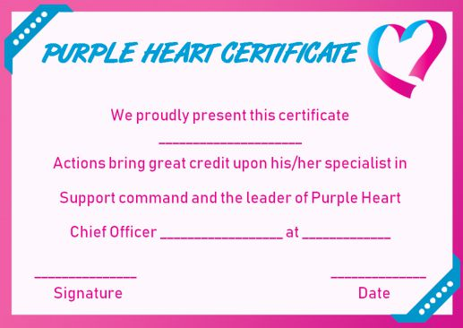 free purple certificate templates