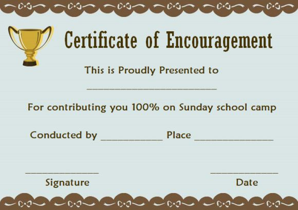 Sunday School Certificate Template 17 Specialized Certificates For