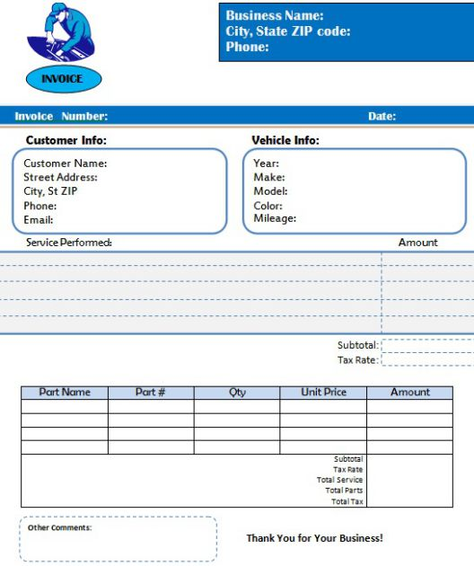 motorcycle invoice template 12 editable invoices for sales
