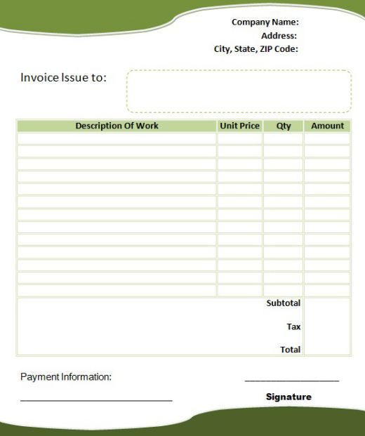 interior invoice template1