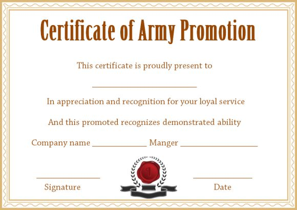 officer promotion certificate template template sumo