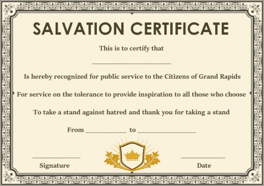 12 surprising certificate of salvation templates free resources free certificate of salvation templates maxwellsz