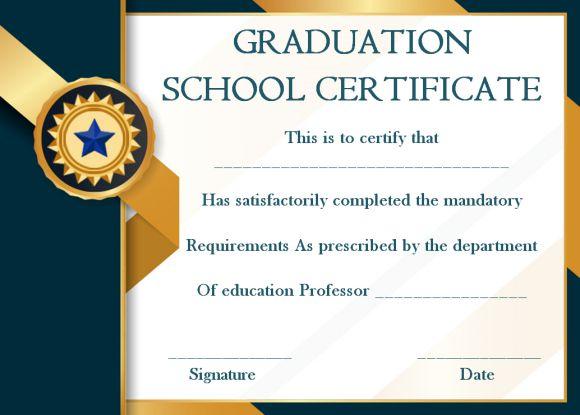 school graduation certificate sample