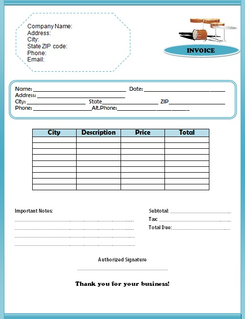 Use These Band Invoice Templates Bill Your Music Performances - Band invoice