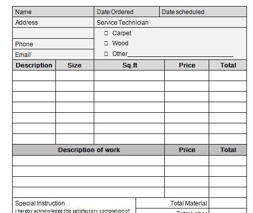 Category Flooring Invoice Template