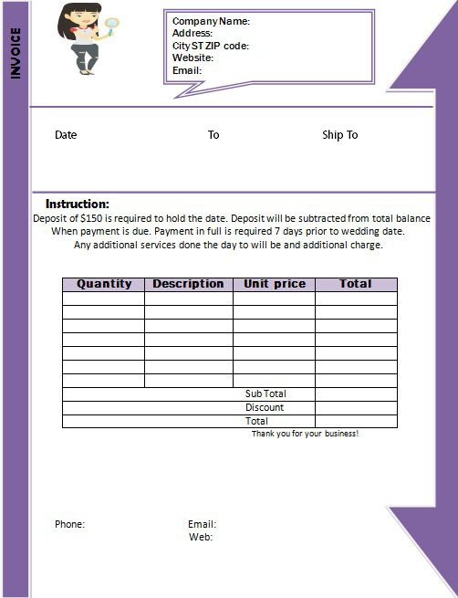 Makeup Artist Invoice Template 4th Template Will Surprise You