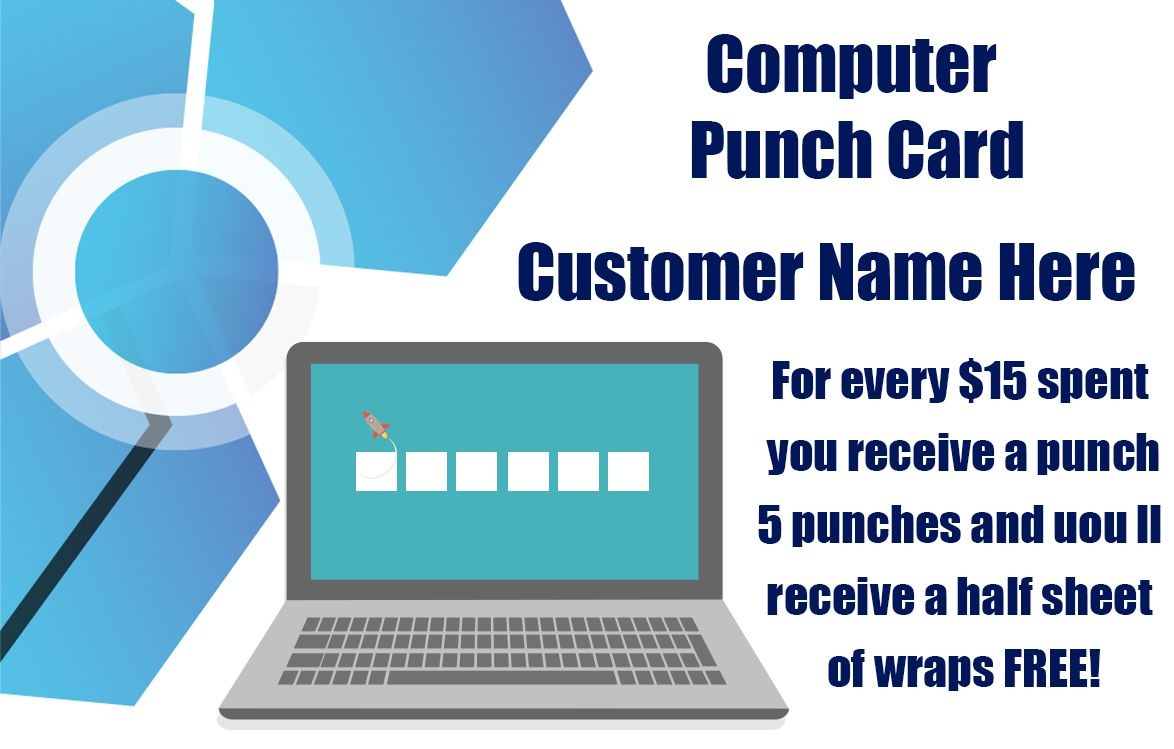 computer punch card template - Business Punch Cards