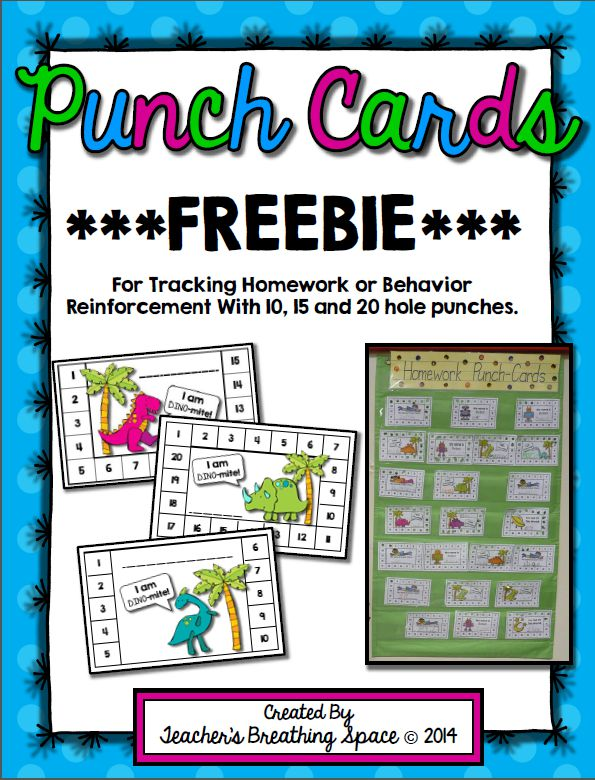 Punch Cards For Behavior Template