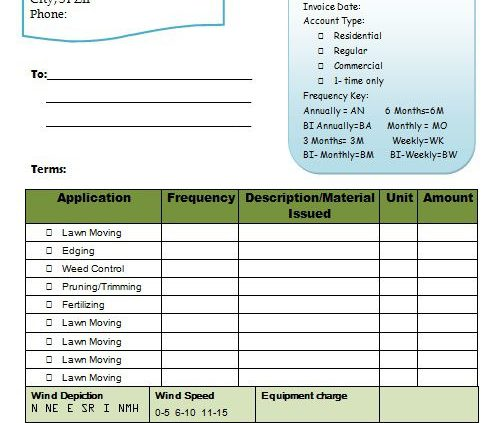 professional lawn invoice templates for service maintenance moving jobs template sumo