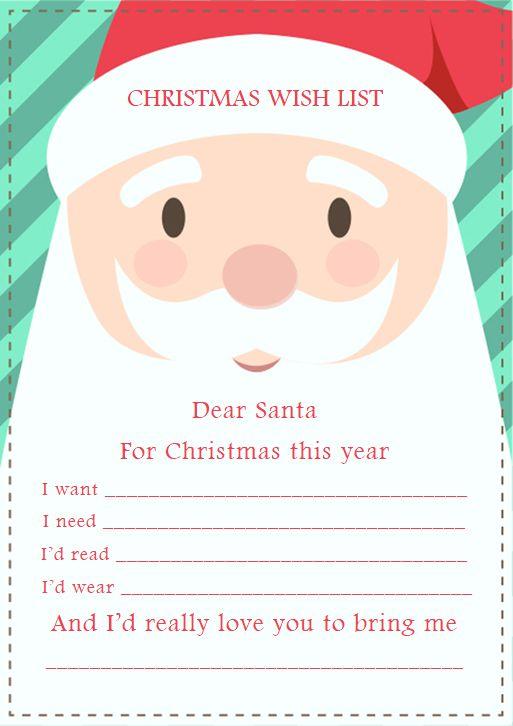 christmas gift exchange wish list template