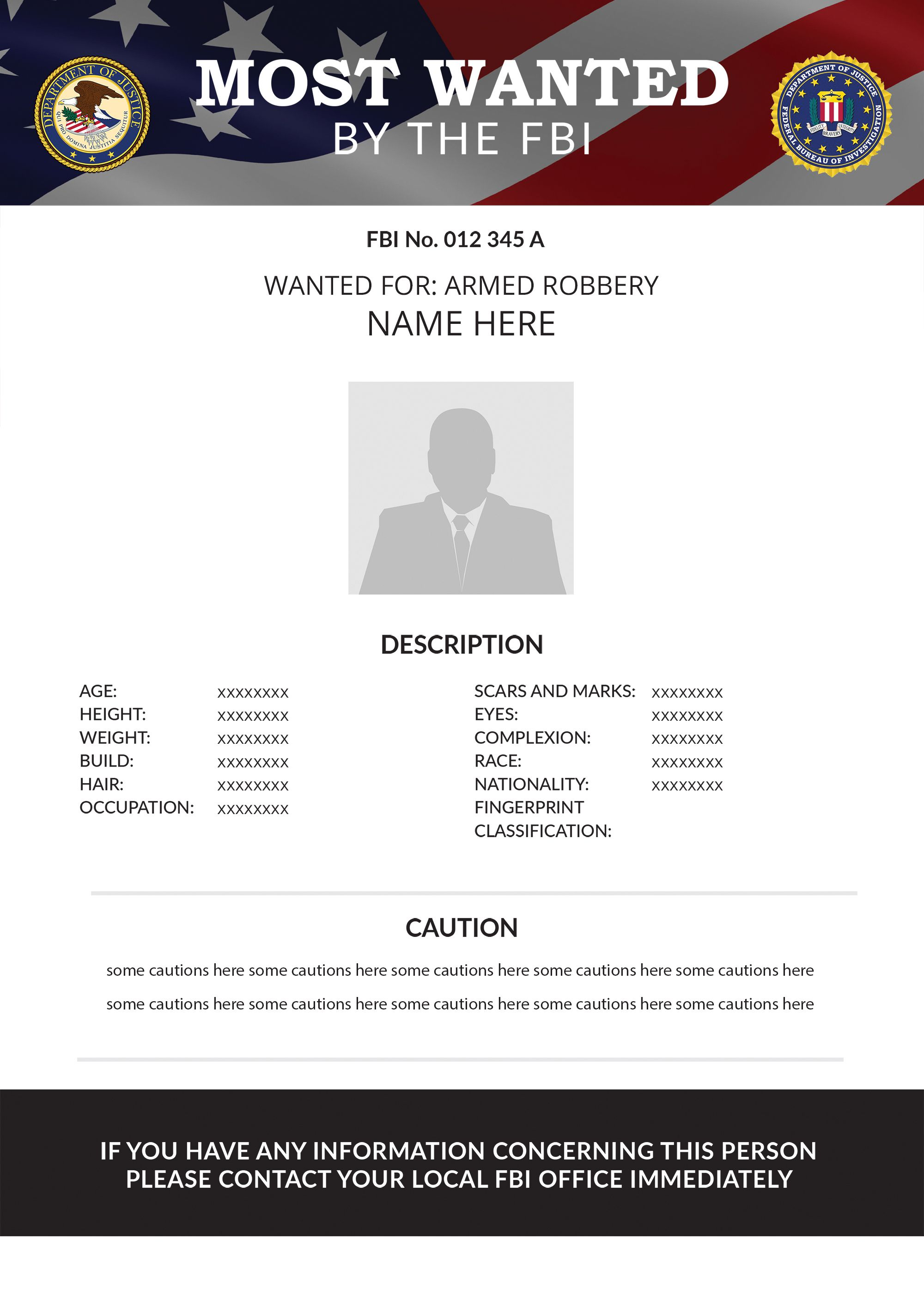 Free Wanted Poster Template 25 Customizable Design Templates