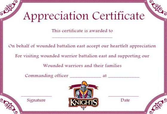 10 Superb Knights Of Columbus Certificate Templates For Appreciation