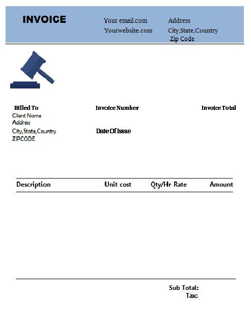 Download Legal Invoice Templates For Advocates Fees Receipts