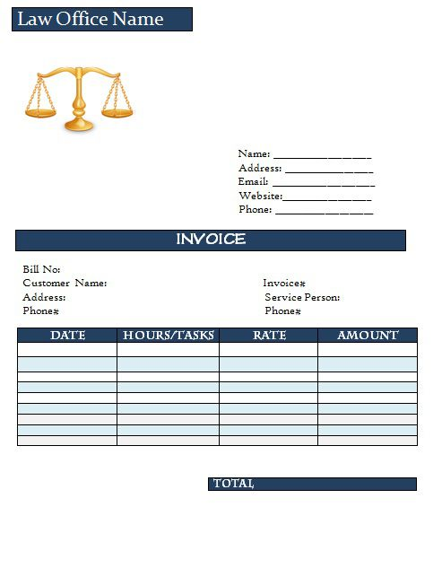 Download Legal Invoice Templates For Advocates Fees Receipts Included Template Sumo
