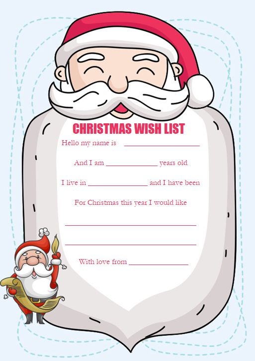 Colorful Christmas Wish List Templates For Students Teachers Surprise Templates Template Sumo