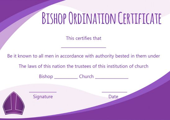 Ordination Certificate Template: 14+ Unique and Free
