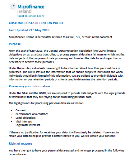 Data Retention Policy Template The Essential Guide To Gdpr