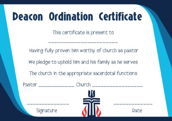 photograph relating to Printable Ordination Certificate identify Ordination Certification Template: 14+ Exceptional and Cost-free