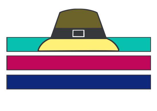 female pilgrim hat template