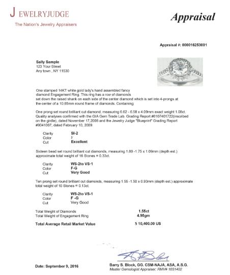 jewelry appraisal template microsoft word