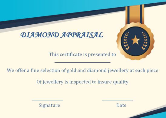 18 Jewelry Appraisal Certificate Templates Pdf Word Excel