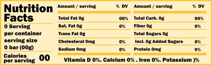 Nutrition Facts: Download 10 Free Nutrition Label Templates