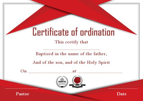 ordination certificate template 14 unique and free downloadable