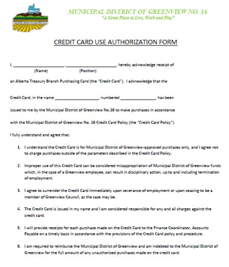 Credit Cards Authorization Form Template: 39 Ready to Use
