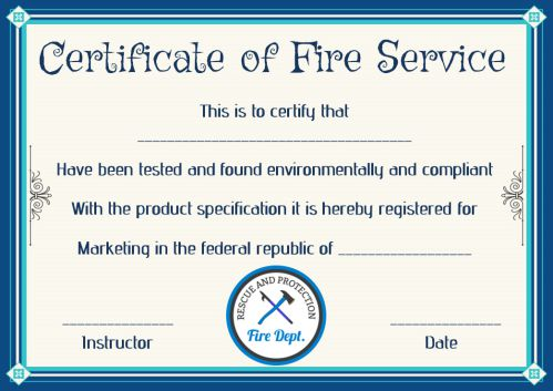 fire safety certificate 10 safety certificate templates template