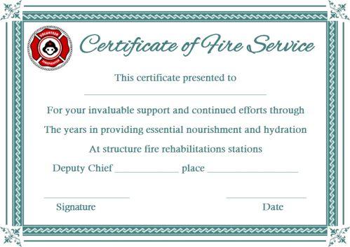 Fire Alarm Service Certificate Template