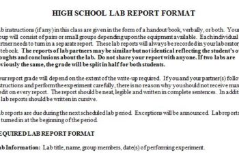 Ultimate Guide on Physics Lab Report Template - Template Sumo