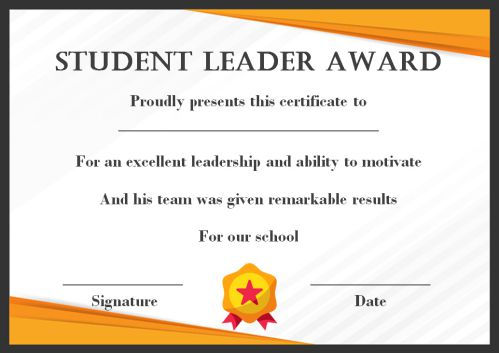Student Leadership Certificate: 10+ Best Student Leadership