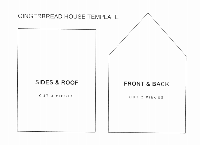 It's just a graphic of Gingerbread House Patterns Free Printable pertaining to chimney