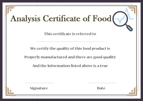 Certificate Of Analysis 10 Templates Available For Word And Pdf For