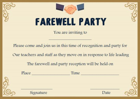 Farewell Party Invitation Template 23 Custom Party