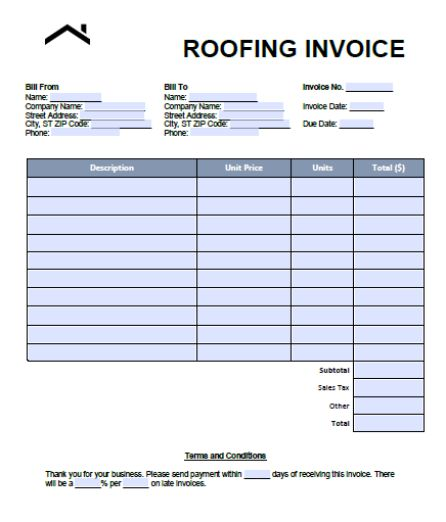 This is a picture of Free Roofing Estimate Forms Printable with general contractor