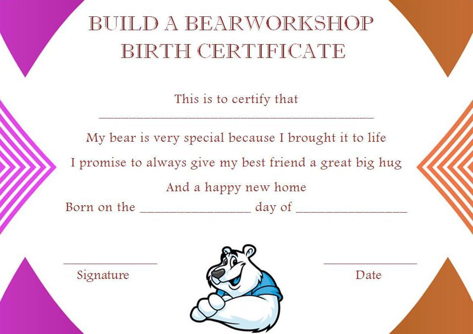 Build a Bear Certificate: 13 Best and Attractive Templates
