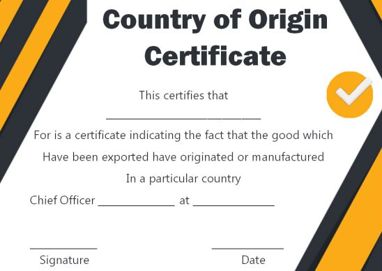 Certificate Of Origin Template 15 Free Editable And Fillable