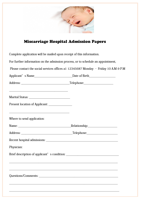 Miscarriage Hospital Discharge Papers Ultimate Guide With