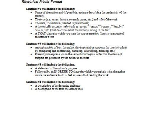 Rhetorical Precis Template | Rhetorical Precis Template Archives Page 3 Of 3 Template Sumo