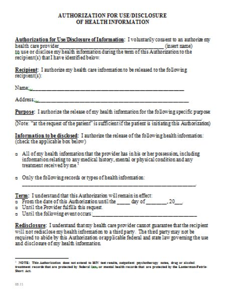 Medical Consent Form Template Create And Download Pdf
