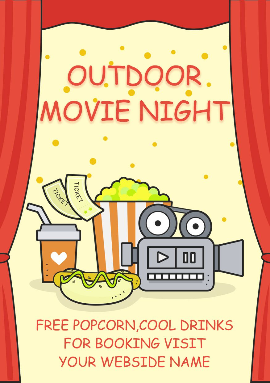 Movie Night Flyer 20 Design Templates For Movie Night
