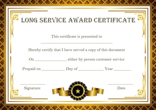 Customer Service Award Certificate 10 Templates That Give You