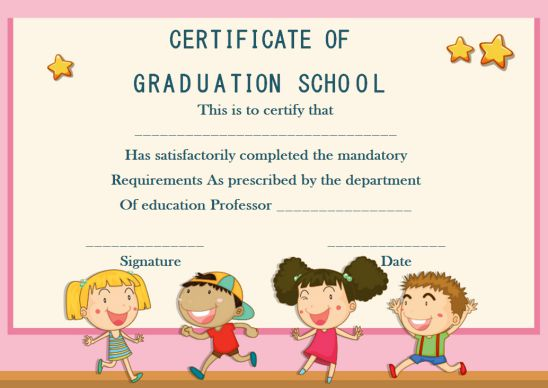 Certificate Of Graduation School