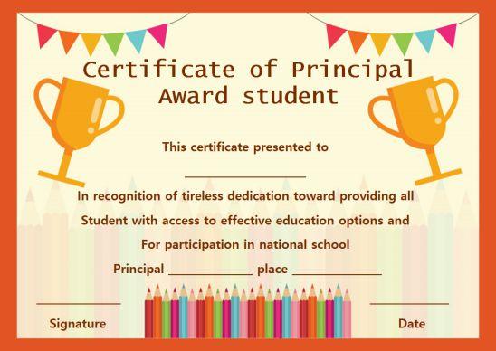 Certificate Of Principal Award Student