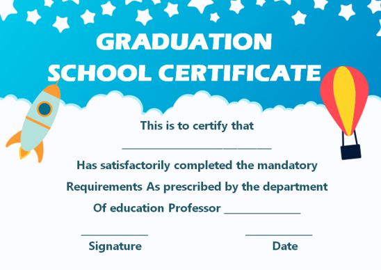 Graduation School Certificate