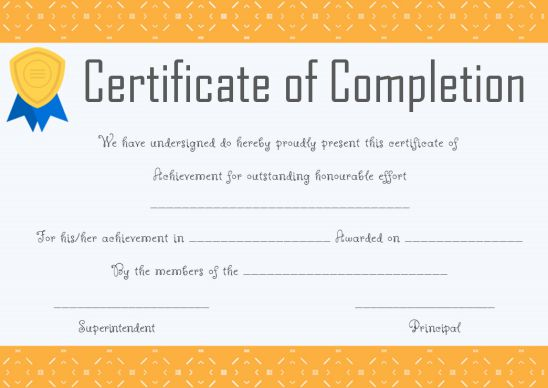 PowerPoint certificate of completion template